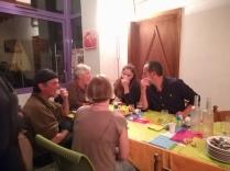 La table des filles, Cathou, Yohana , Emmeline, Richard Garcia à droite et Lionnel à gauche