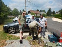 Gilles, notre président au centre et Adrien à droite, Fabien de dos