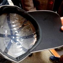 casquette dessous de visière noire anti-reflets
