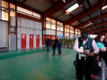 Jp Thiébaut sur l'aire de lancer