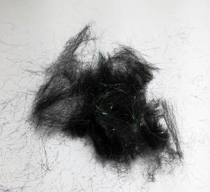 Poils de Lama teint en noir