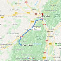 La Buisse - Pont en Royans 53 km