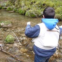 pêche au fouet l'après midi
